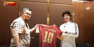 Atta Halilintar Masih Pertimbangkan Akuisisi Sriwijaya FC