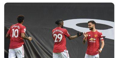 Hasil Babak I - Bruno Fernandes Pecahkan Rekor, Manchester United Justru Tertinggal