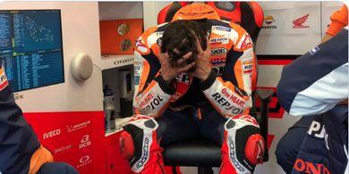 Buang Kesempatan Emas, Marc Marquez Akui Terlalu Ngoyo pada MotoGP Prancis 2021