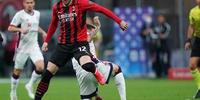 Skor Kacamata Hiasi Babak Pertama Laga AC Milan Kontra Cagliari