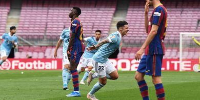 Lionel Messi Cetak Gol Sundulan, Barcelona Diimbangi 1-1 Celta Vigo di Babak I