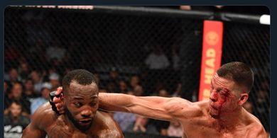 Hasil UFC 263 - Sengit Sampai Berdarah-darah, Leon Edwards Taklukan Nate Diaz