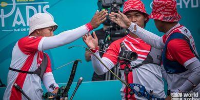 Hasil Panahan Olimpiade Tokyo 2020 - Kalah dari Britania Raya, Langkah Indonesia Terhenti di Perempat Final