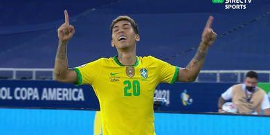 Hasil Copa America 2021 - Diwarnai Gol Kontroversial Firmino, Brasil Comeback atas Kolombia di Menit-menit Akhir