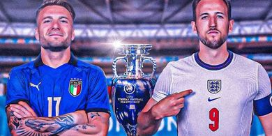 Jadwal Siaran Langsung Final EURO 2020 - Live di Mola, Inggris vs Italia, Si Singa Berburu Sejarah