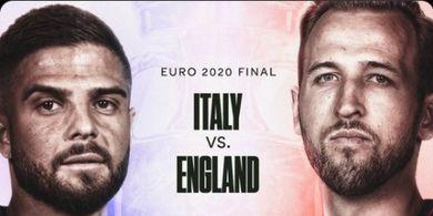 Final EURO 2020 - Diprediksi Ketat dan Sampai Penalti, Inggris Menang