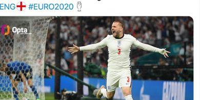 Final EURO 2020 - Sempat Bawa Inggris Unggul, Luke Shaw Bikin Rekor Baru