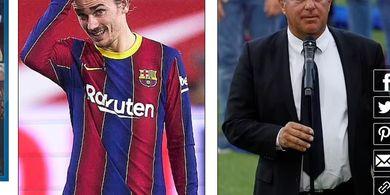 Frustrasi Ingin Segera Lepas Griezmann, Presiden Klub Barcelona Blak-blakan