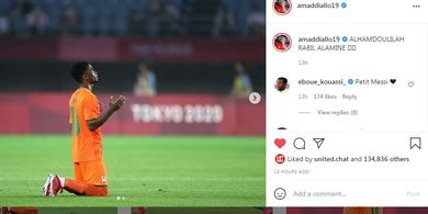 Olimpiade Tokyo 2020 - Bintang Muda Manchester United Ucap Alhamdulillah usai Pantai Gading ke Perempat Final