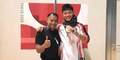 Bangganya Sang Ayah Lihat Rahmat Erwin Abdullah Raih Medali Perunggu Olimpiade Tokyo 2020