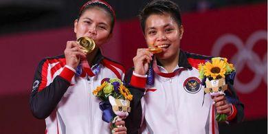 Kenapa Greysia/Apriyani Ikut Gigit Medali Emas, Ini Peringatan Panitia Olimpiade Tokyo 2020