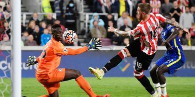 Hasil Liga Inggris - Edouard Mendy Si Manusia Super, Chelsea Kalahkan Brentford dan Balik ke Puncak