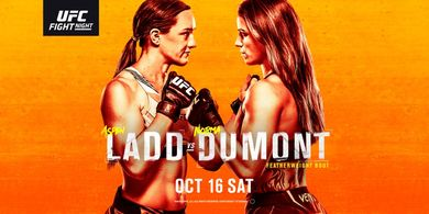 Hasil UFC Vegas 40 - Malas Bertarung sampai Dimarahi Pelatih, Aspen Ladd Kalah Mengenaskan