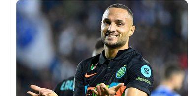 Hasil Babak I - Gol Tandukan Bawa Inter Milan Sementara Unggul