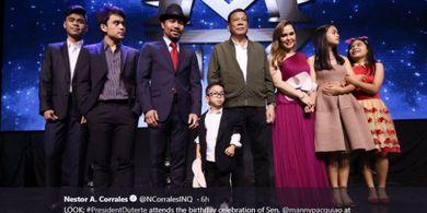 Manny Pacquiao Akui Istrinya Menangis Saat Larang Sang Putra Bertinju