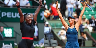 Serena Williams Jumpai Maria Sharapova pada Babak Kesatu US Open 2019