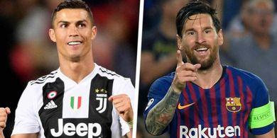 Daftar Top Scorer 5 Liga Top Eropa - Messi Melejit Ronaldo Tergusur