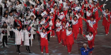 Begini Sulitnya Timnas Korea  Utara Menjalani Latihan Mereka Layaknya Pasukan Militer