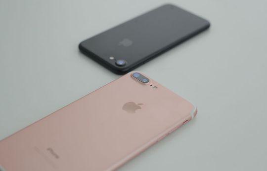 iPhone 7 Plus Rose Gold, iPhone 7 Black