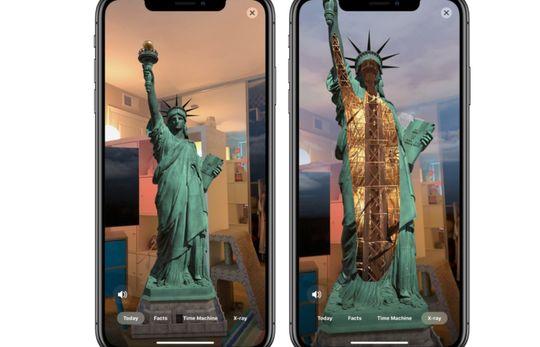 Contoh tampilan 3 dimensi aplikasi Statue of Liberty
