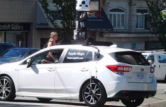 Contoh armada mobil Apple Maps