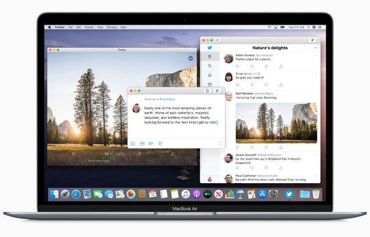 Twitter adalah contoh aplikasi baru yang segera hadir di macOS Catalina