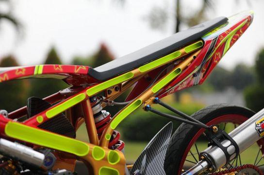 Modifikasi Kawasaki Ninja 150rr Drag Style Rapi Motorplus Online Com