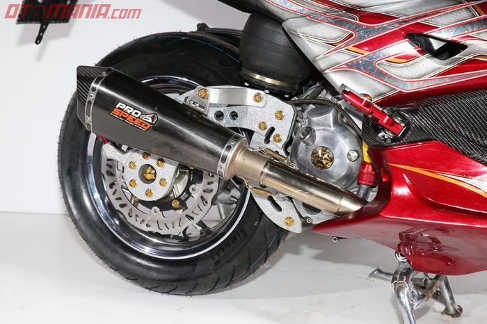 Air suspension pengganti sokbreker belakang XMAX
