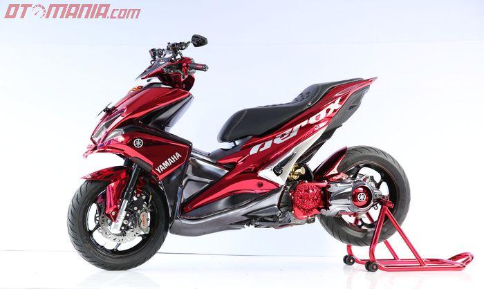 Yamaha Aerox pemenang master class di Customaxi Surabaya