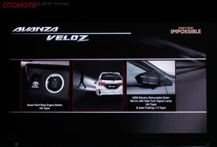 Smart start/stop engine button sudah tersedia di Avanza Veloz