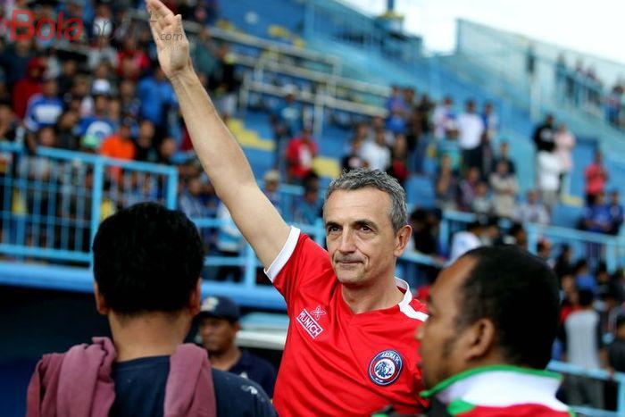 Pelatih Arema FC, Milomir Šešlija.