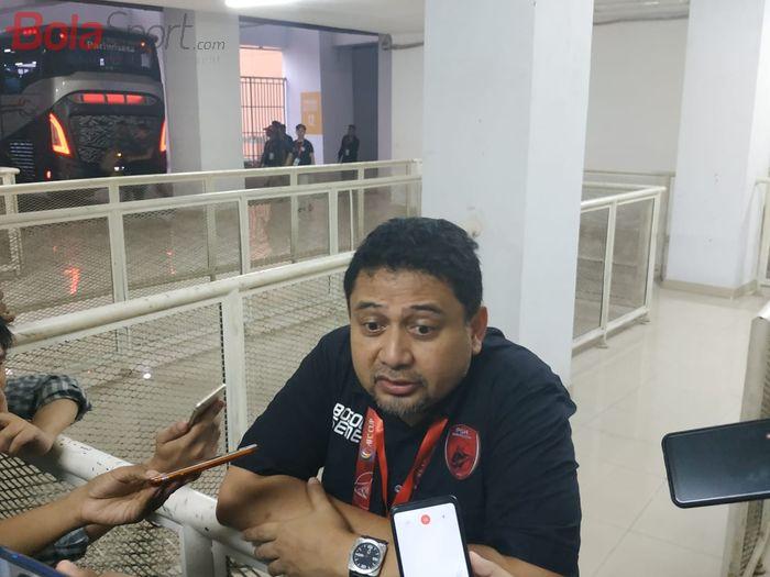 CEO PSM Makassar, Munafri Arifuddin saat ditemui wartawan di Stadion Pakansari, Kabupaten Bogor, Rabu (29/1/2020).