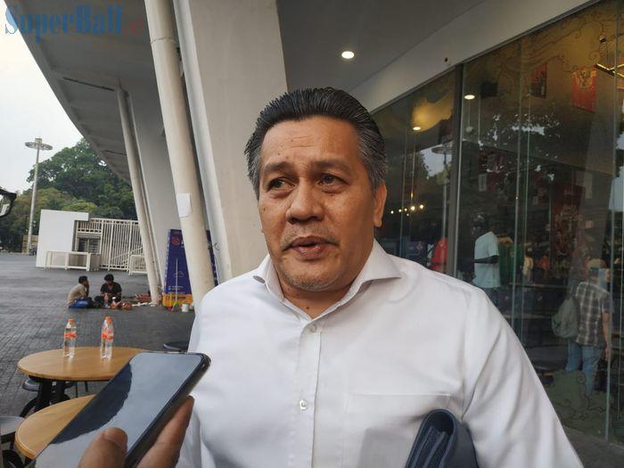 Anggota Komite Eksekutif (Exco) PSSI, Gusti Randa, di Garuda Store, Jakarta, Kamis (12/9/2019).