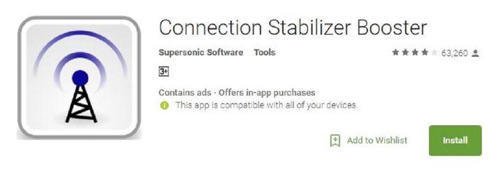 Aplikasi Connection Stabilizer Booster