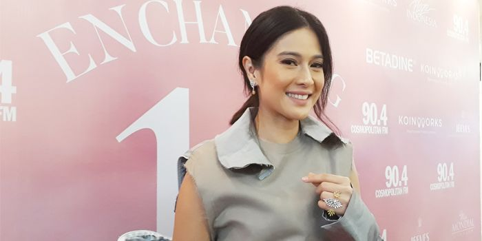 Dian Sastrowardoyo saat di temui dalam sebuah acara di Mall, Jakarta Pusat, Jumat (2/2/2018)
