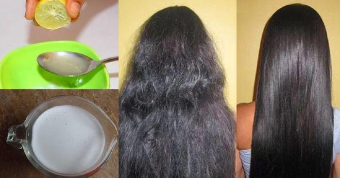 Ilustrasi resep rambut lurus alami