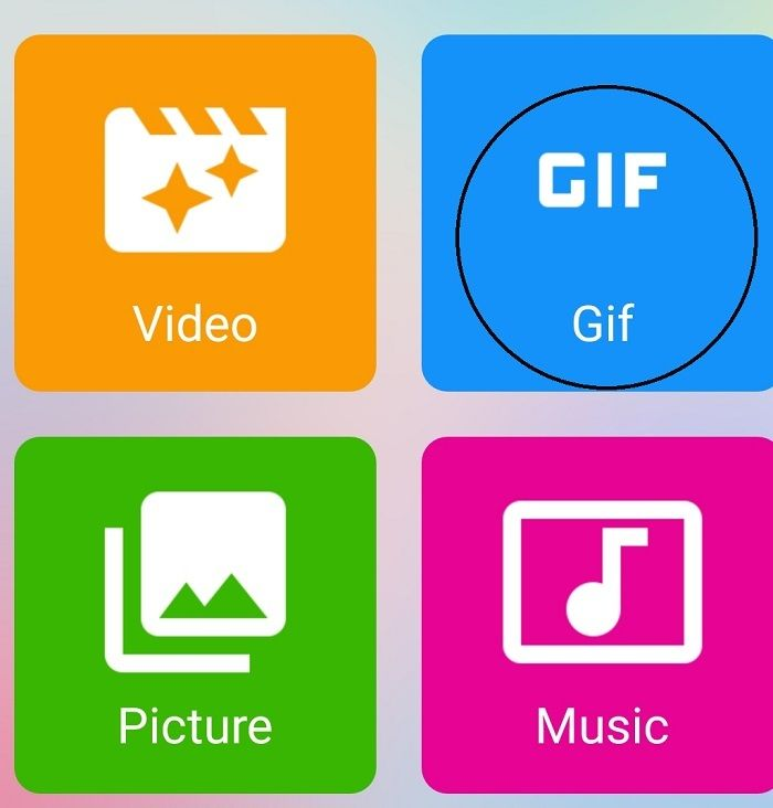 Pilih menu GIF