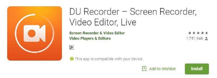 Aplikasi DU Recorder (Nextren)