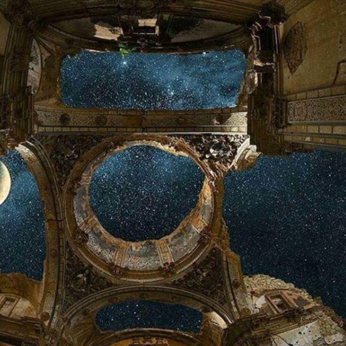 Bintang di kastil tua Spanyol