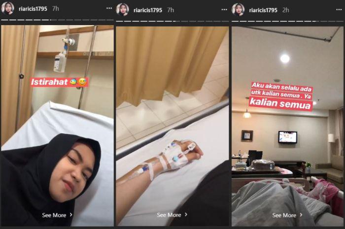 Ria Ricis terbaring di rumah sakit