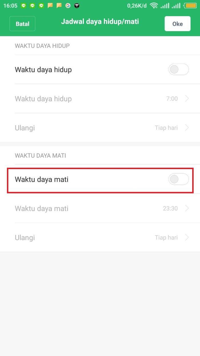 Pengaturan ponsel Xiaomi