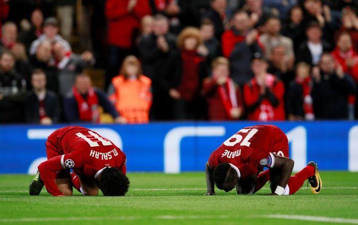Mohamed Salah melakukan sujud syukur setiap kali mencetak gol