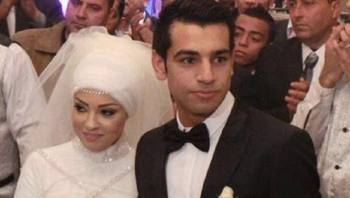 Salah dan istrinya saat menikah tahun 2013