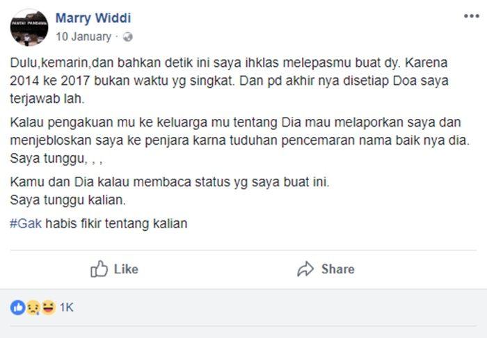 Postingan Marry Widdi
