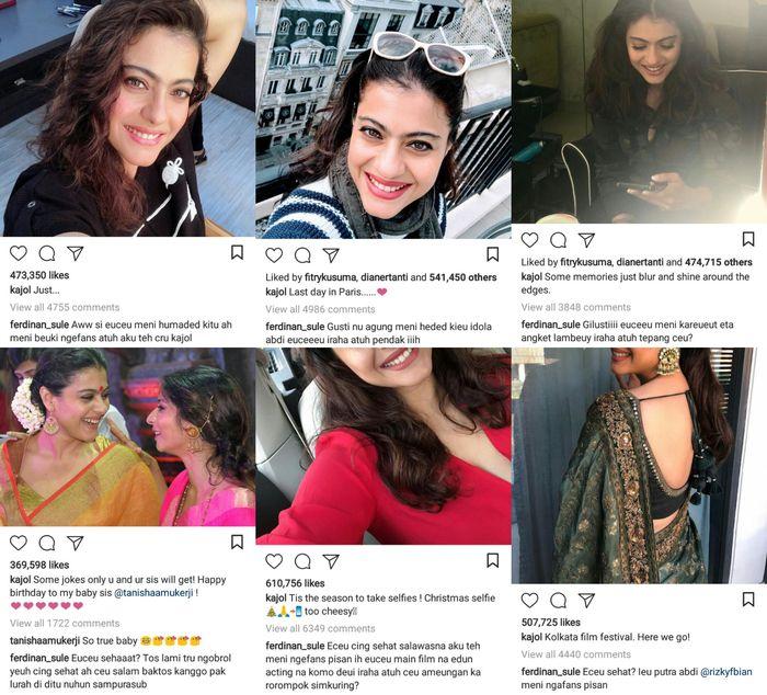 komentar Sule di Instagram Kajol