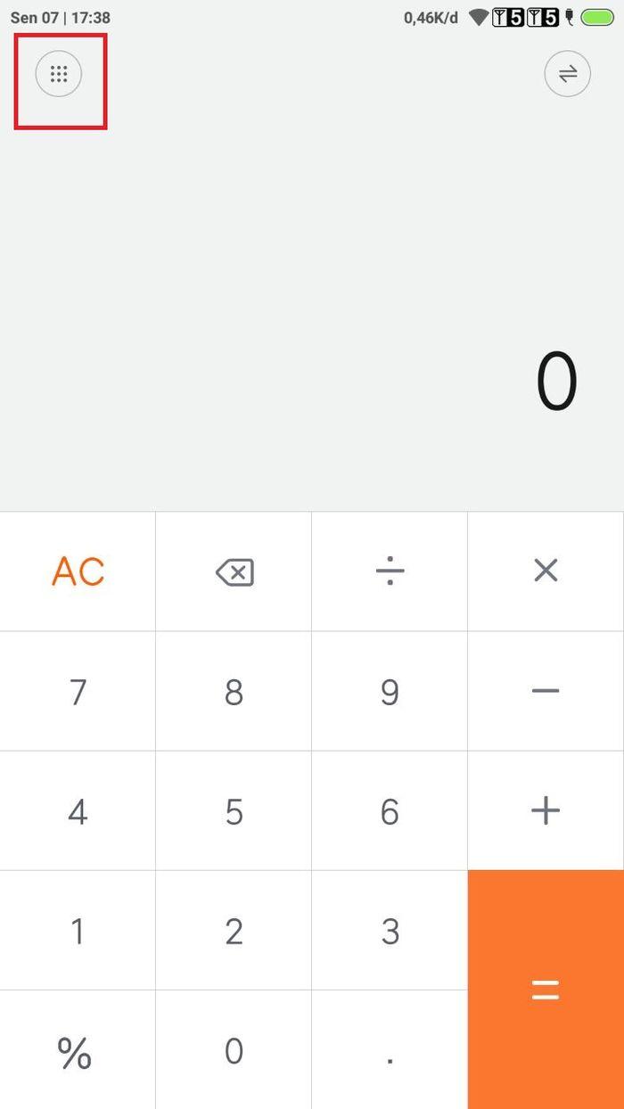 Menu rahasia pada kalkulator Xiaomi