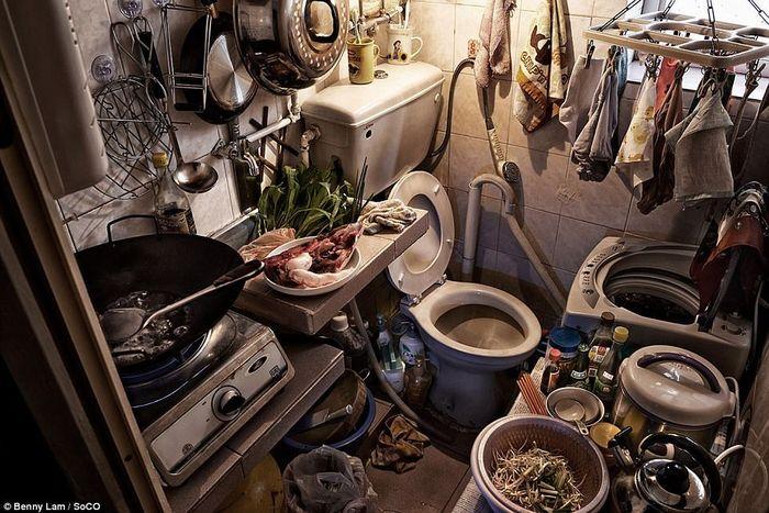 kondisi apartemen kumuh di Hong Kong