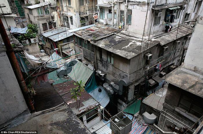 Kondisi kawasan kumuh Hong Kong