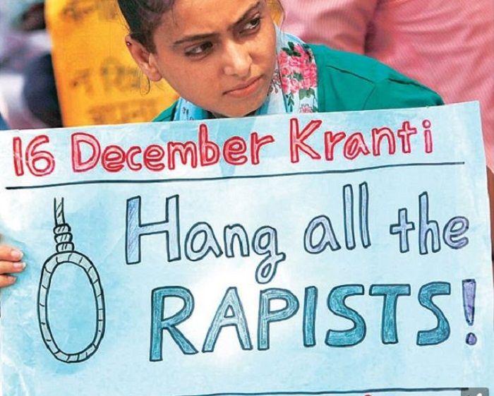 Seorang pengunjuk rasa di India
