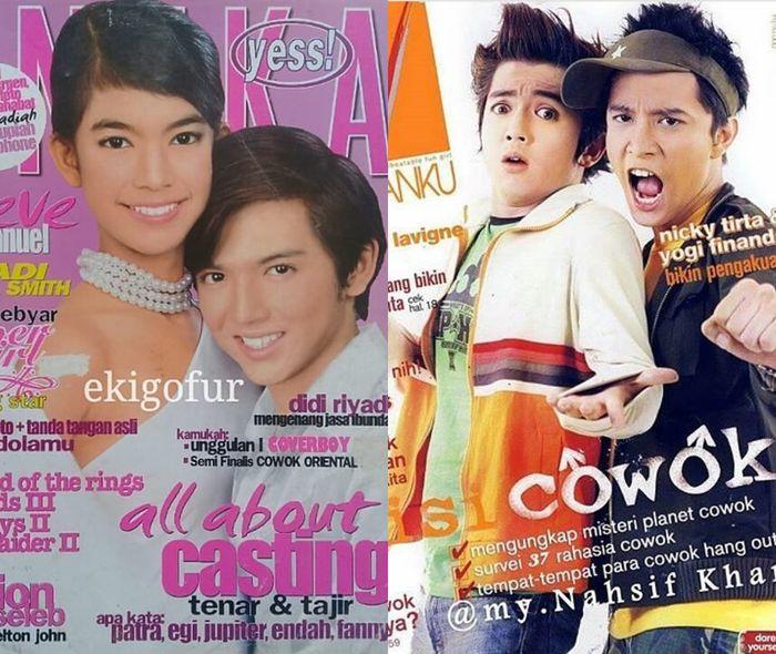 Nicky Tirta memulai karir sebagai model cover majalah
